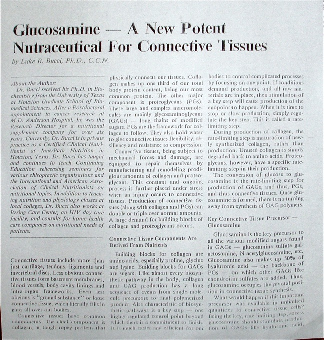 an analysis of a cure for osteoarthritis glucosamine sulfate In 2006, the glucosamine/chondroitin arthritis intervention trial (gait)  one of  five treatments daily for 24 weeks: glucosamine hydrochloride alone,  people)  and subgroup analyses can be misleading, the researchers said.